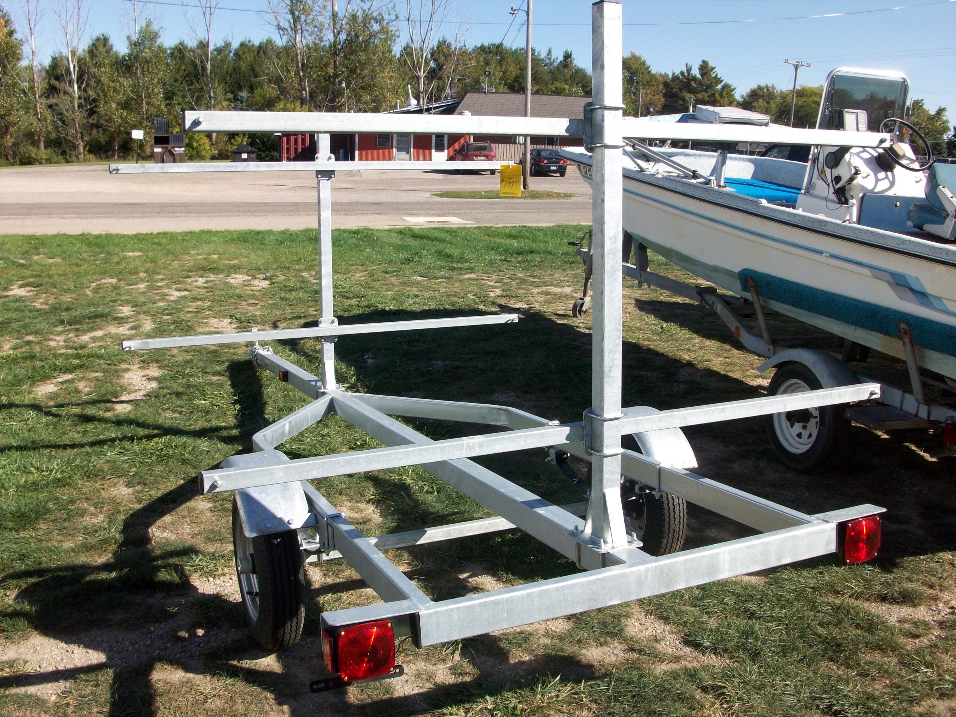 Be the first to review 16 galvanized canoe kayak trailer